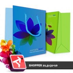 Shopper 21,5x31+10, UVSE-PO200gr
